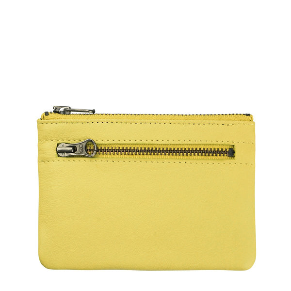 STATUS ANXIETY ANARCHY LEATHER WALLET ACID YELLOW
