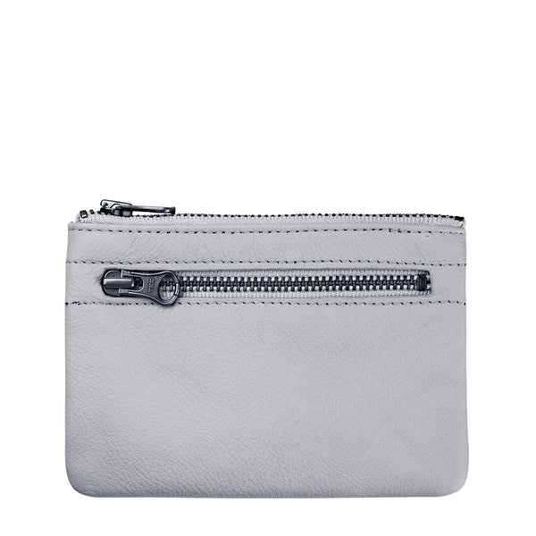 STATUS ANXIETY ANARCHY LEATHER WALLET ARCTIC GREY