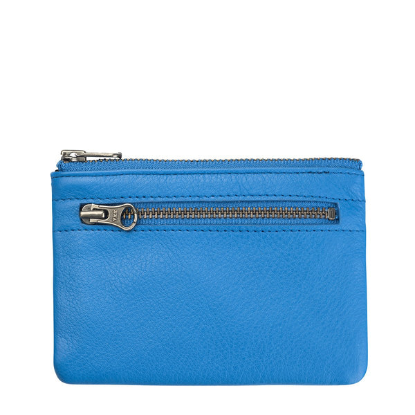 STATUS ANXIETY ANARCHY LEATHER WALLET SURF BLUE