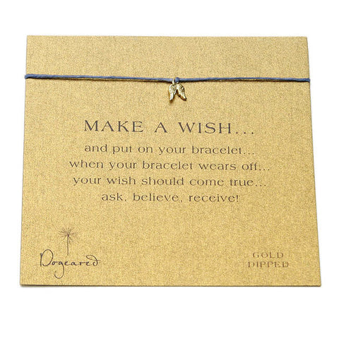 DOGEARED Make A Wish Bracelet - Angel Wings Charm