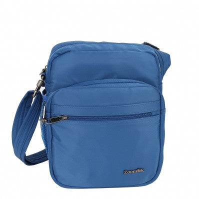 ZOOMLITE METROSHIELD ANTI-THEFT MESSENGER BAG BLUE