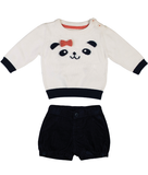 Gingerlilly Aria Panda Jumper, Shorts & Tights