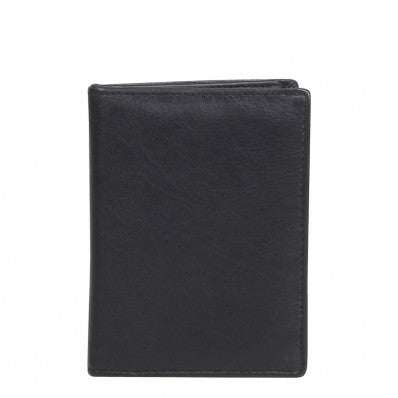 ZOOMLITE RFID Classic Leather Arlington Flap Card Note Sleeve Black