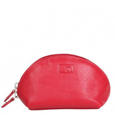 ZOOMLITE Classic Leather Arlington Coin/Key Pouch Red