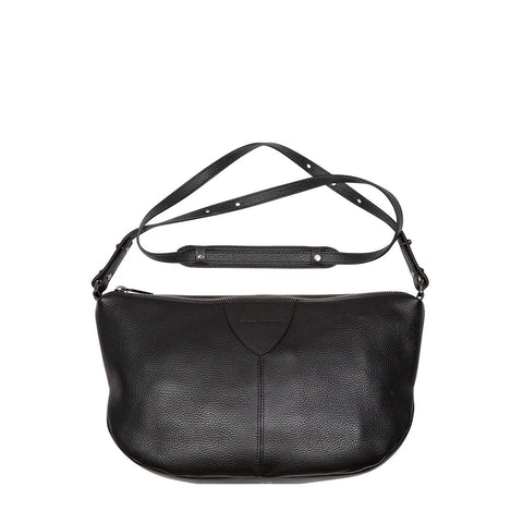STATUS ANXIETY AT A LOSS LEATHER CROSSBODY/SHOULDER BAG BLACK WITH FREE WALLET