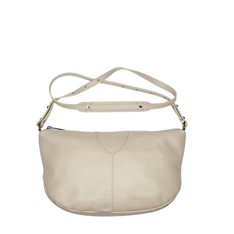 STATUS ANXIETY AT A LOSS LEATHER CROSSBODY/SHOULDER BAG NUDE BEIGE