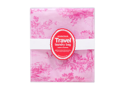 ANNABEL TRENDS Travel Laundry Bag Toile Pink