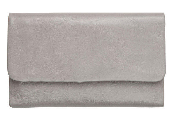 STATUS ANXIETY Audrey Leather Wallet Light Grey