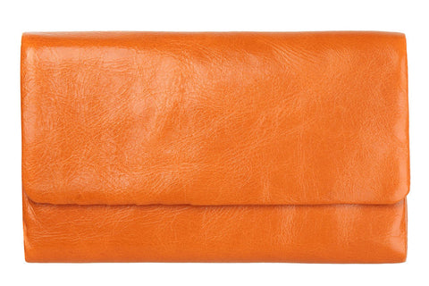STATUS ANXIETY Audrey Leather Wallet Burnt Orange