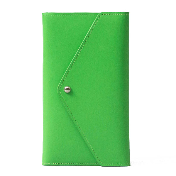 Paperthinks Recycled Leather Travel Envelope Mint Green