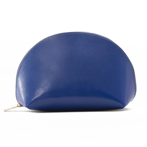 Paperthinks Recycled Leather Cosmetic Case Navy Blue