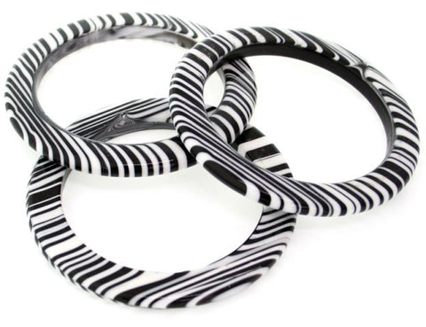 SOBRAL by Jackie Brazil Black White Cats Eye Bangle
