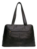 Hidesign Cerys Leather Multi-Compartment Shoulder Bag Black