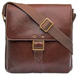 Hidesign Vespucci Leather Medium Vertical Messenger Brown