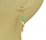 Gena Myint Leaf Cascade Cluster Chrysophrase Earrings