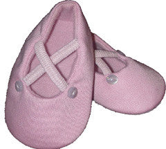 Penelope Lane Pink Ballerina Shoes (6 - 12 months) SALE