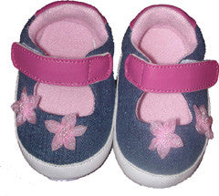 Penelope Lane Pink Denim Shoes (12 - 18 months)