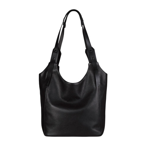 STATUS ANXIETY Because the Night Leather Tote Black FREE WALLET