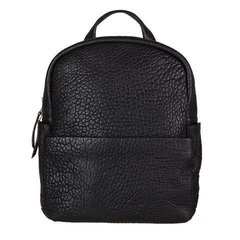 STATUS ANXIETY People Like Us Leather Backpack Black Bubble FREE WALLET