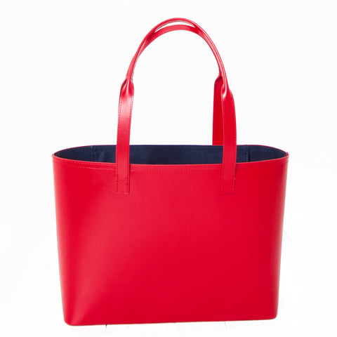 Paperthinks Leather Small Tote Scarlet Red