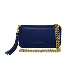 Laconic Style Trouvaille zip Pebbled Leather Smartphone Wristlet & Crossbody Wallet Blue