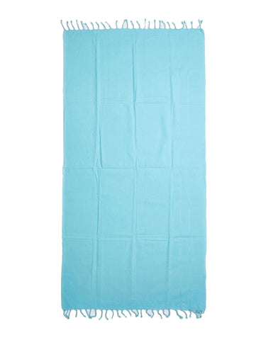 Miz Casa & Co Bondi Turkish Towel Aqua Blue