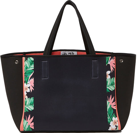 Urban Originals Byron Neoprene Tote Bag Flower Black