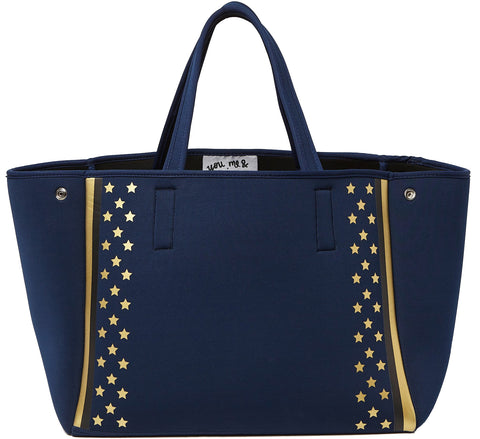 Urban Originals Byron Neoprene Tote Bags Retro Navy Blue