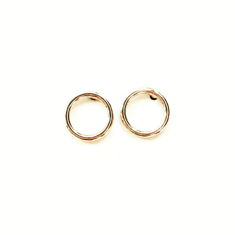 Agapantha Jewelry Eden Full Moon Stud Earrings