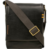 Hidesign Seattle Unisex Leather Crossbody Messenger Bag Black