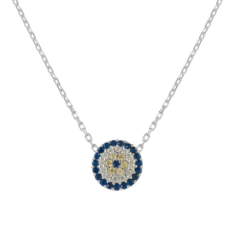 Latelita London Evil Eye Necklace Silver