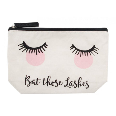 Bat Those Lashes Canvas Cosmetic Bag