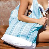 BAMBURY Indian Summer Canvas Tote - Lagoon