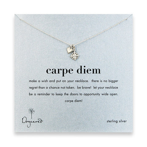 Dogeared Carpe Diem Necklace - Sterling Silver