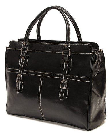 FLOTO Casiana Mini Leather Bag Black