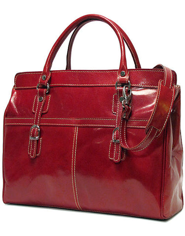 FLOTO Casiana Mini Leather Bag Tuscan Red