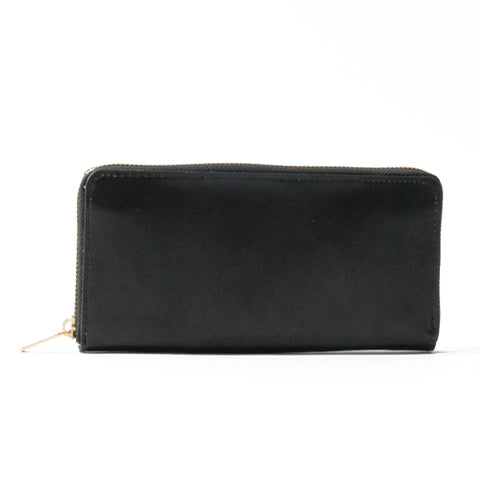 Paperthinks Recycled Leather Long Zip Wallet Black