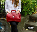 FLOTO Ciabatta Leather Bag Vecchio Brown