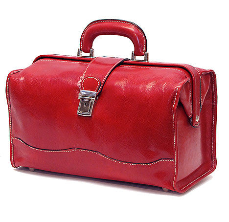 FLOTO Ciabatta Leather Bag Tuscan Red