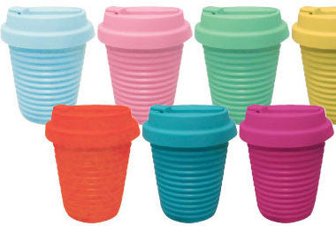Silicone Eco Coffee Cup w/ Flip Top Lid SALE