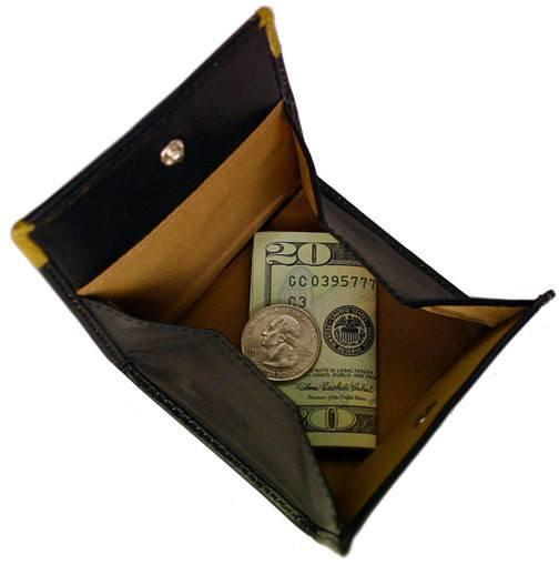 FLOTO Milano Collection Leather Coin Pocket Black