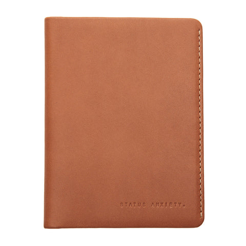 STATUS ANXIETY Conquest Leather Travel Wallet Camel Brown