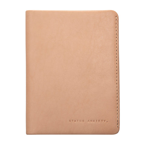 STATUS ANXIETY Conquest Leather Travel Wallet Tan