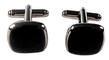Square Black Cufflinks