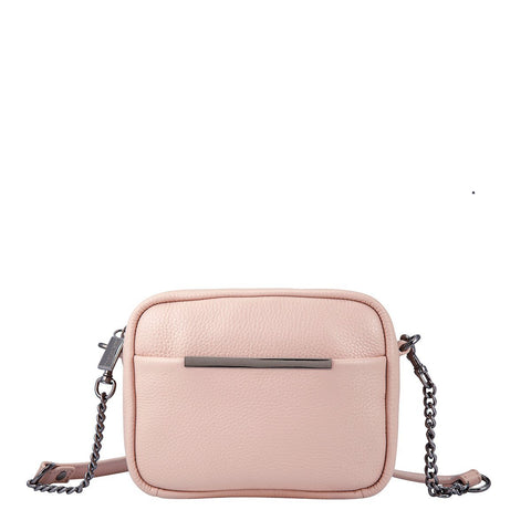 STATUS ANXIETY CULT LEATHER SHOULDER/CROSSBODY BAG PINK