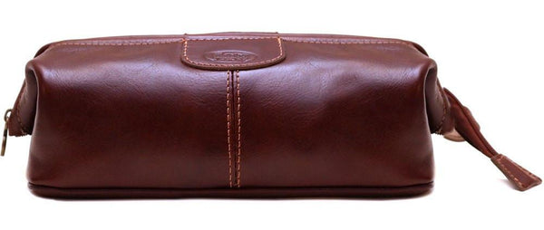 FLOTO VENEZIA LEATHER DOPP TRAVEL KIT VECCHIO BROWN