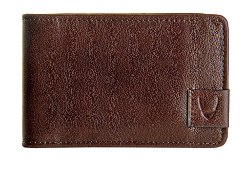 Hidesign Vespucci Buffalo Leather Slim Card Holder Brown