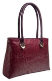 Hidesign Yangtze Embossed Leather Medium Shoulder Bag Red