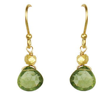 Gena Myint Peridot Drop Earrings