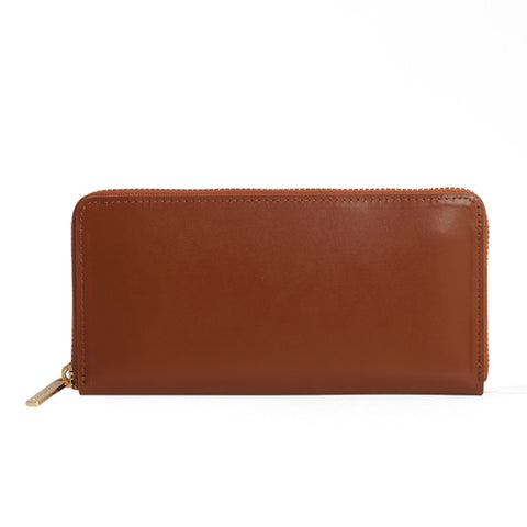 Paperthinks Recycled Leather Long Zip Wallet Tan